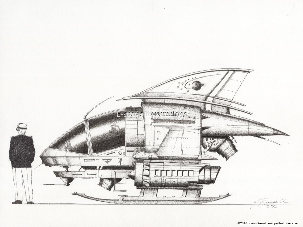 """James K. Russell, """"Rabbit Flyer"""" Urban Cruiser: 2-Passenger Short-Range ATV-lite (large view)"""