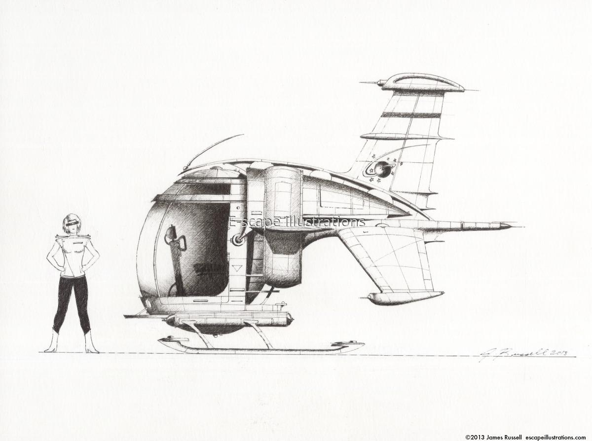 """James K. Russell, """"Little Turtle"""" Urban Roamer: 2-Passenger ATV-lite (large view)"""