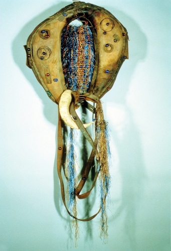 Horse Collar with Rams Horn and Horse Reins