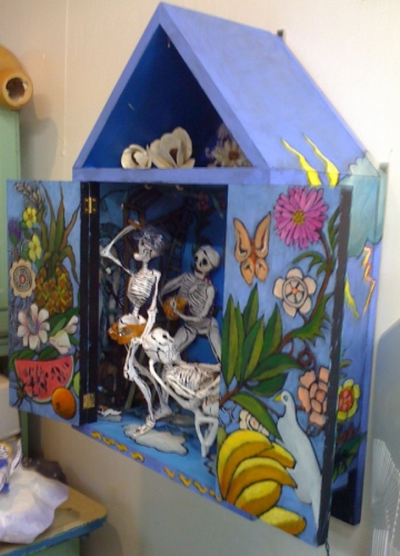 Day of Dead Cabinet