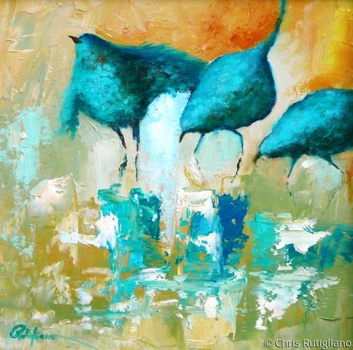 Threesome by Chris Rutigliano Original Oil Paintings