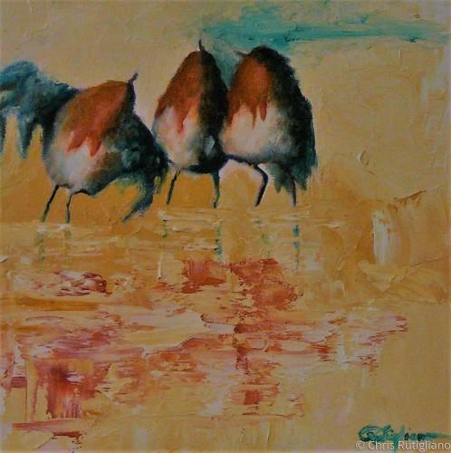 Three Amigos by Chris Rutigliano Original Oil Paintings