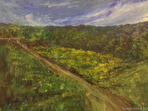 Mountain Retreat by Susan Abell Art