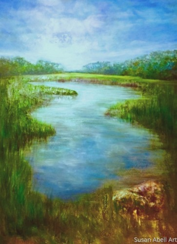 Marsh Life by Susan Abell Art