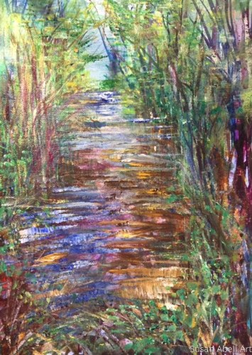 Creek Side by Susan Abell Art