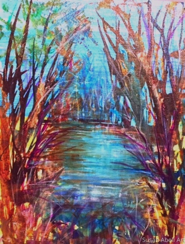Bathed in Light by Susan Abell Art