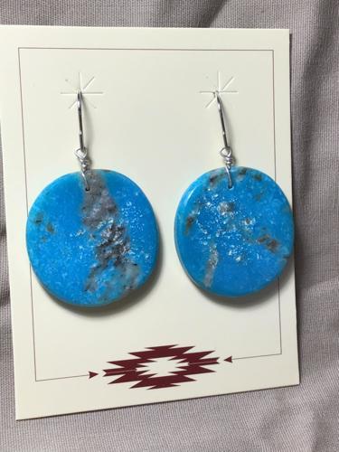 Turquoise Slab Earrings  by Sharon Abeyta