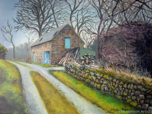 """Old Cottage by the Road"""