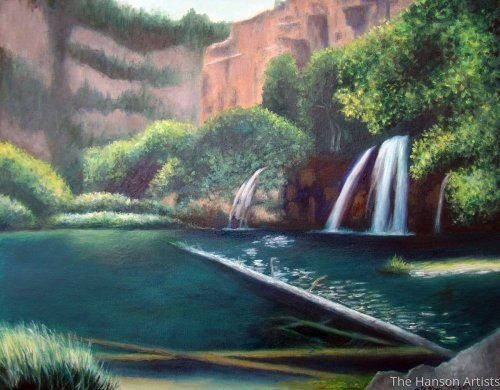 """Hanging Lake"" by The Hanson Artists"
