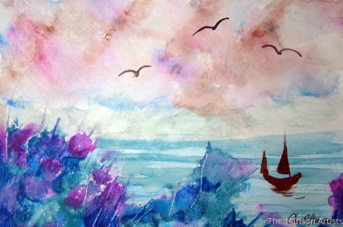 """Birds Over the Coast"""