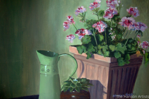 """Geraniums on the Porch"""