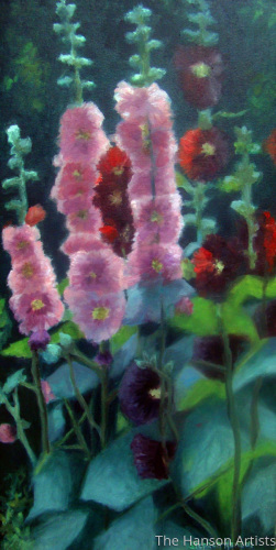 """Hollyhocks #2"""
