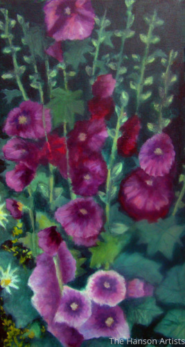 """Hollyhocks #1"""