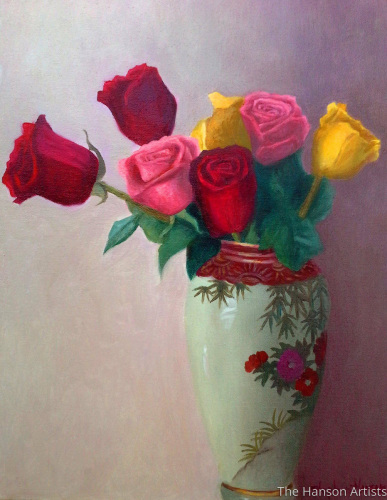 """Red, Yellow, & Pink Roses For a Blue Lady"""