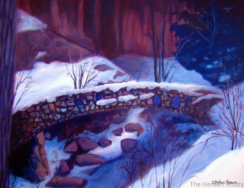 """The Bridge in Winter"""