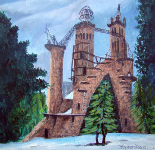 """Bishop's Castle in Winter"""