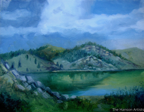 """Tarryall Reservoir--Cloudy Day"""