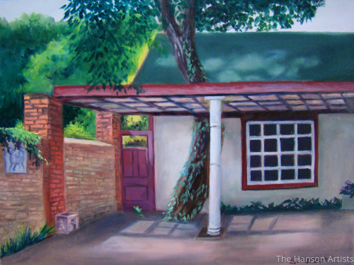 """Courtyard Afternoon"""