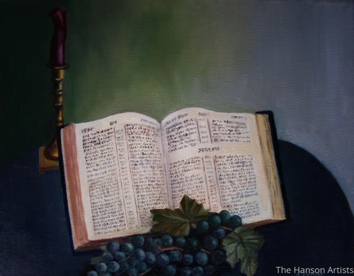 Bible, Grapes & Candles