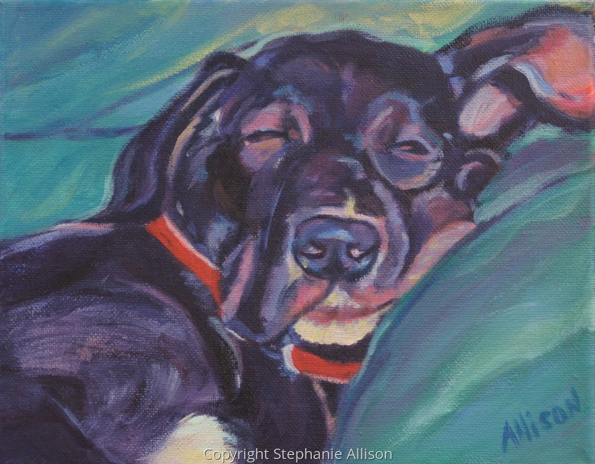 great dane painting (large view)