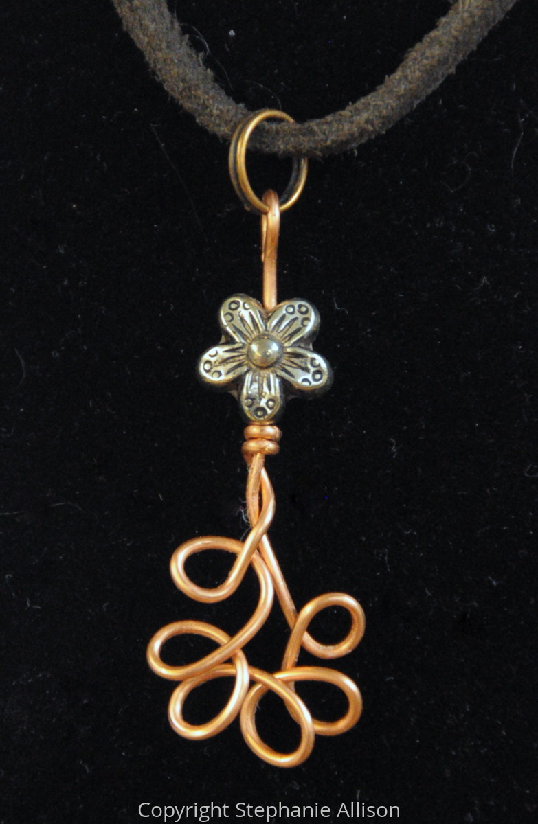 Pendant, Copper Flower (large view)