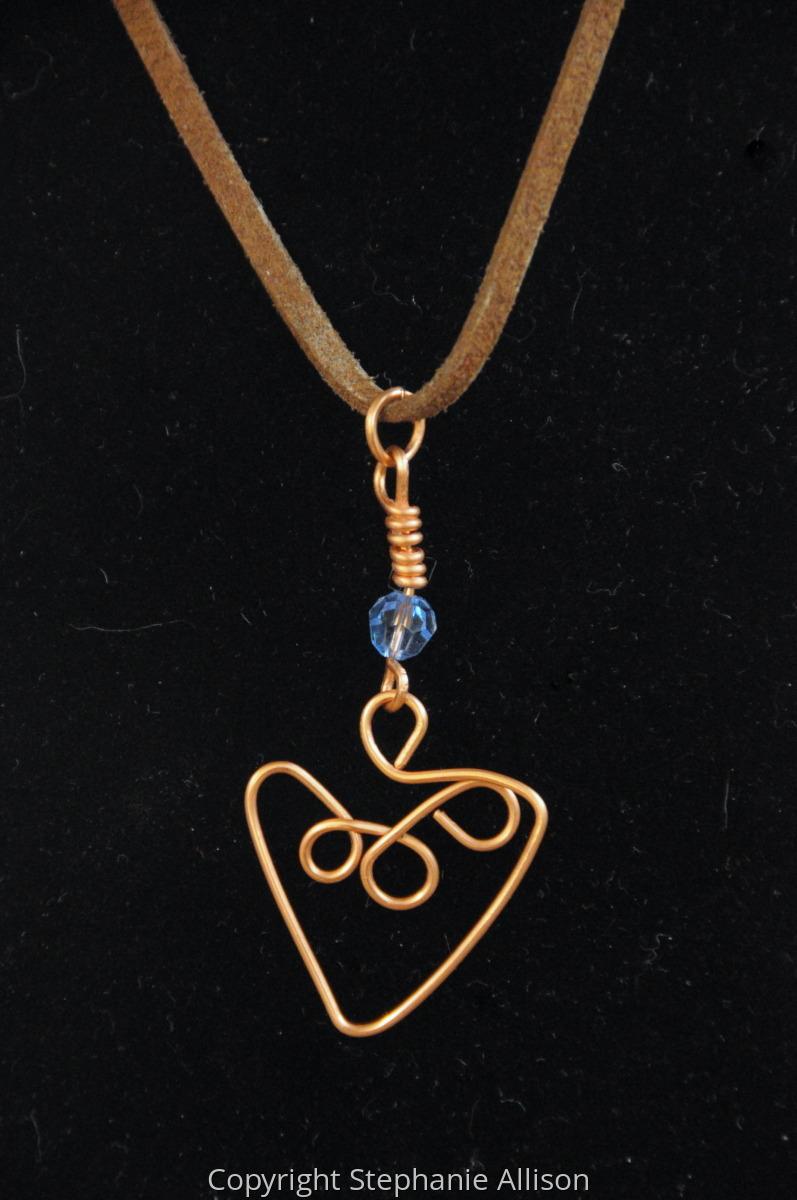Pendant, Copper Heart  (large view)