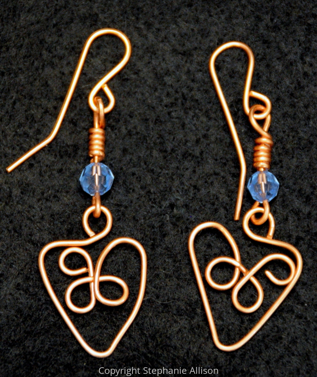 Earrings, Copper Heart (large view)