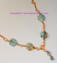 copper wire and bead necklace (thumbnail)