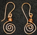 Earrings, Copper Swirl (thumbnail)