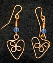 Earrings, Copper Heart (thumbnail)