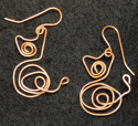 Earrings, Copper Kitty (thumbnail)