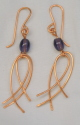Earrings, Copper Cross Loops (thumbnail)