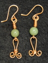 Earrings, Copper & Green Aventurine (thumbnail)
