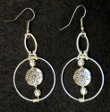 Earrings, Hoop & Pewter Accent (thumbnail)