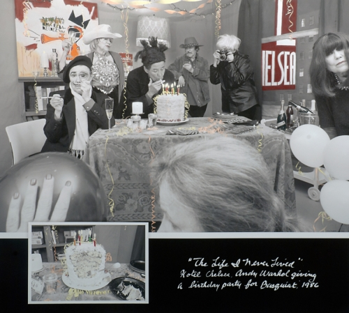 Hotel Chelsea, Andy Warhol giving a birthday party for Jean-Michel Basquiat , 1986