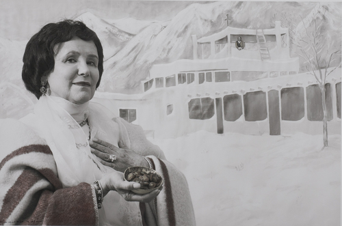 Mabel Dodge Luhan In Taos, Tony introduced me to peyote... I introduced him to money. by Sally Stockhold
