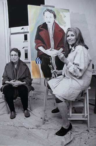Alice Neel  Painting the Portrait of S. Stockhold