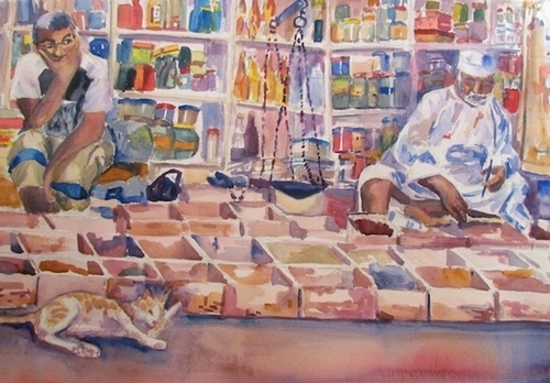 Muscat Souk Merchants