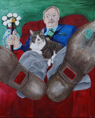"""Spencer and His Dad"", Self Portrait (large view)"