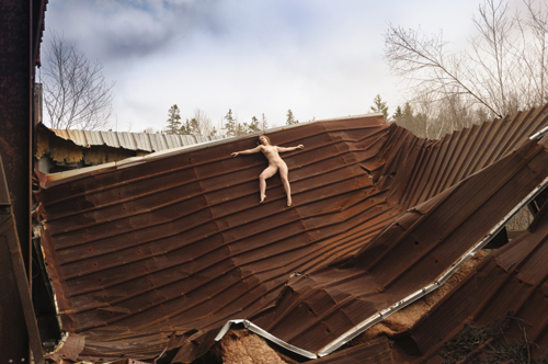 Rebecca Lawrence in the Wrecked Factory After the Storm
