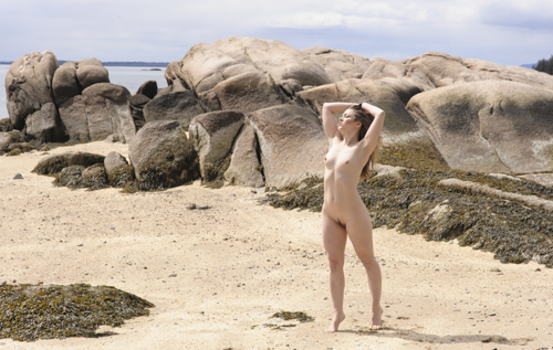 Rebecca Lawrence Celebrates the Sun on a Cold Maine Morning