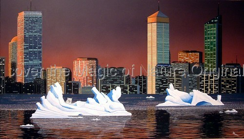 Ice Melting - SOLD by  Discover the Magic of Nature. Original Hyperrealistic Paintings in Acrylics