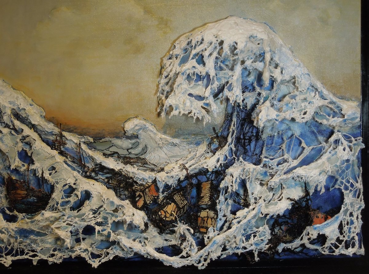 Hokusai in the Time of Tsunami (large view)