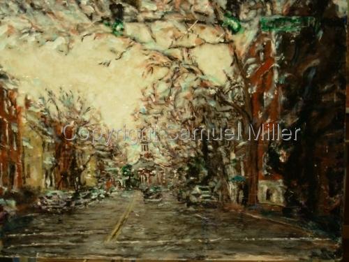 Winter Rain, Christ Church by Samuel Miller