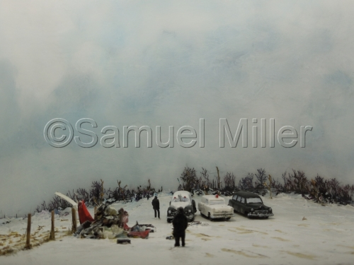 Crash at Clear Lake Iowa, Feb. 1959 by Samuel Miller