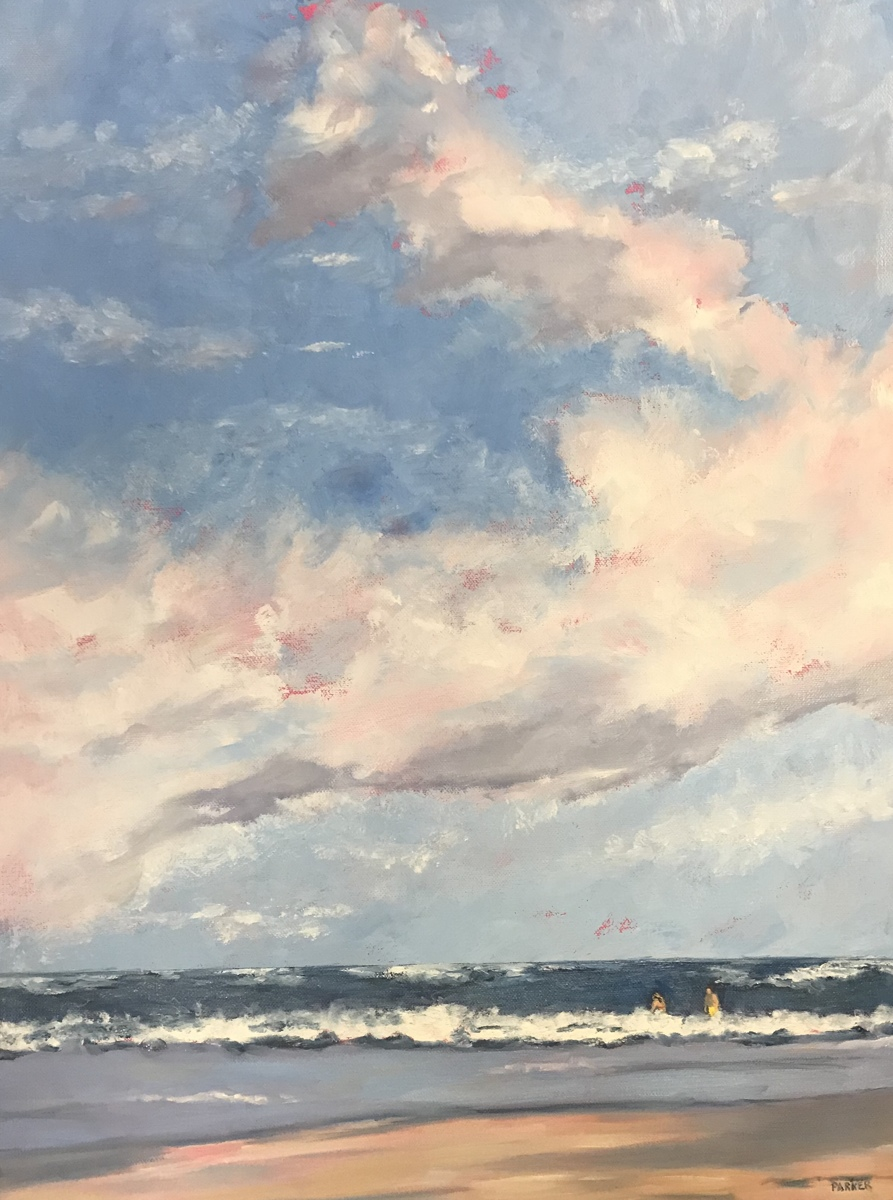 A Day At The Beach By Sandi Parker Fine Art