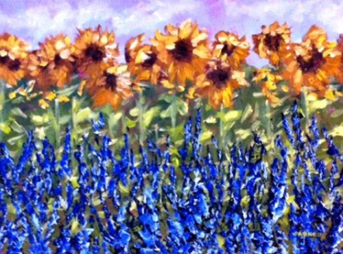 Sunflowers and Lavender 2
