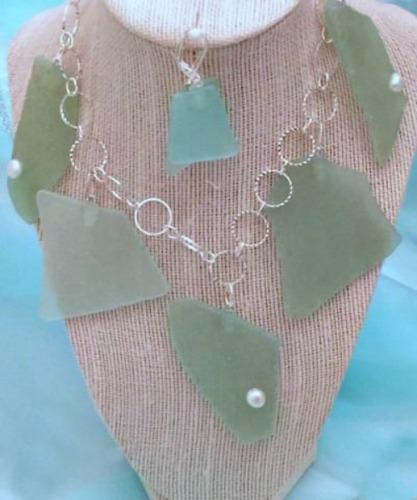 Green Seaglass Set