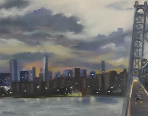 Manhattana Skyline from the Williamsburg Bridge