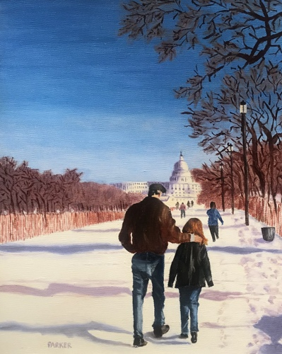 Walking on the National Mall